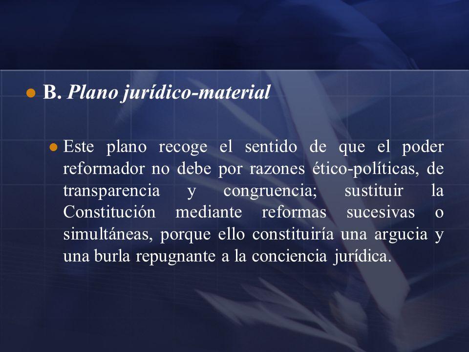 B. Plano jurídico-material