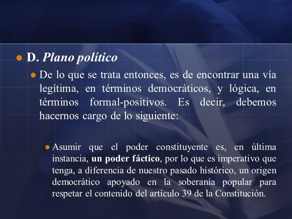 D. Plano político