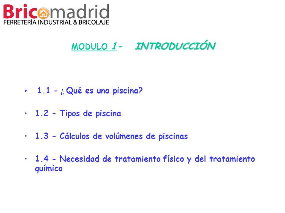1.3 - Cálculos de volúmenes de piscinas