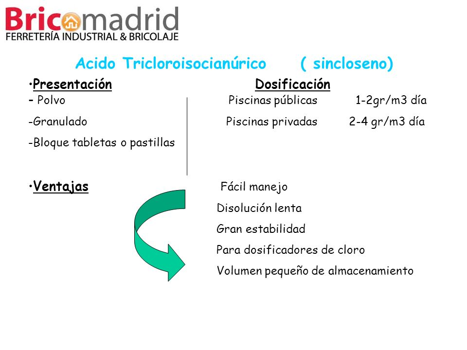 Acido Tricloroisocianúrico ( sincloseno)