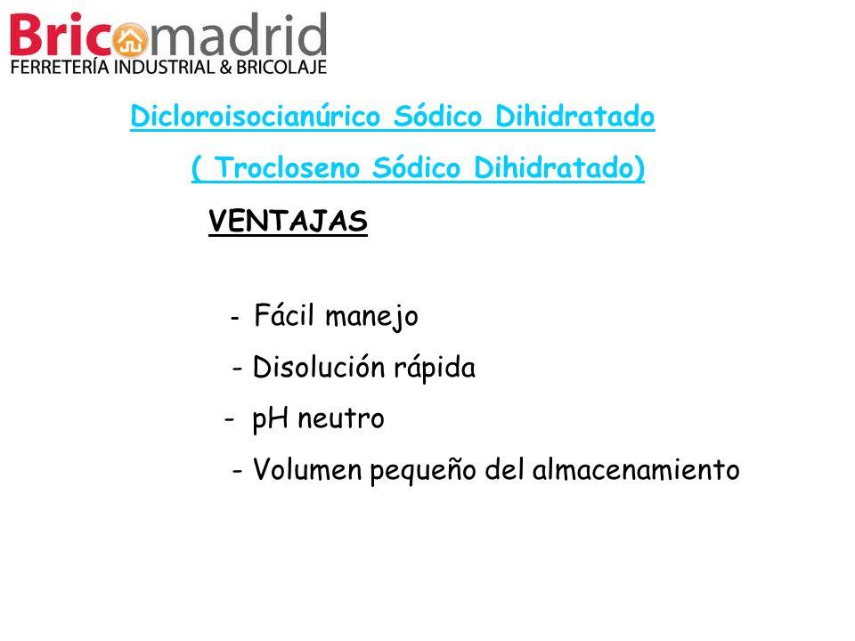 Dicloroisocianúrico Sódico Dihidratado