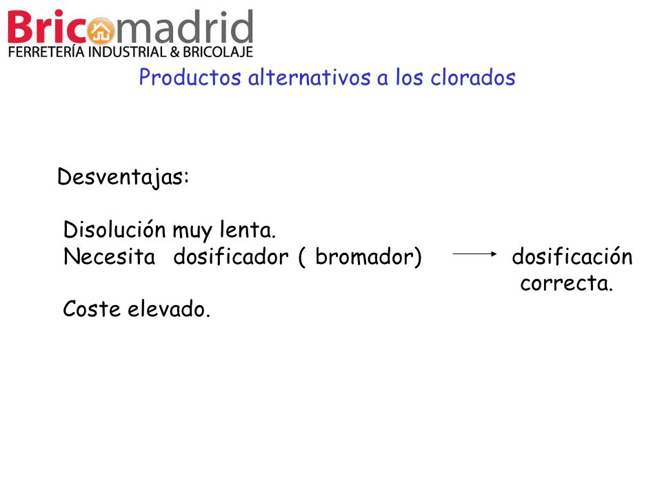 Productos alternativos a los clorados