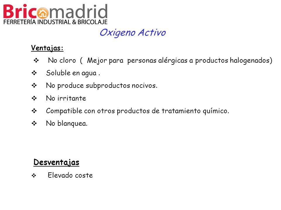 Oxigeno Activo Desventajas Ventajas: