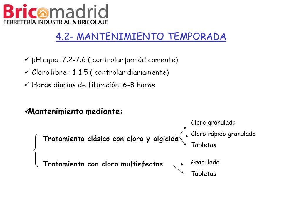 4.2- MANTENIMIENTO TEMPORADA