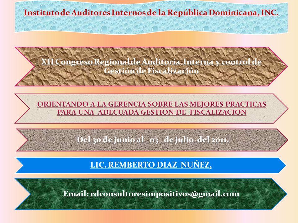 Del 30 de junio al 03 de julio del 2011. LIC. REMBERTO DIAZ NUÑEZ,