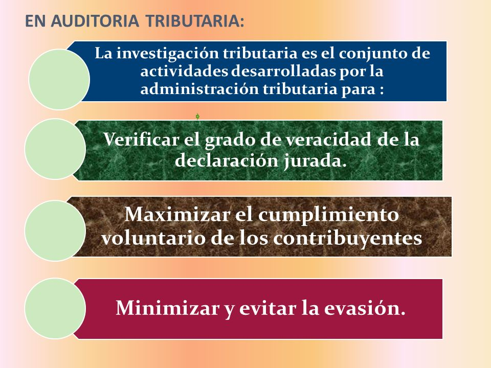 EN AUDITORIA TRIBUTARIA: