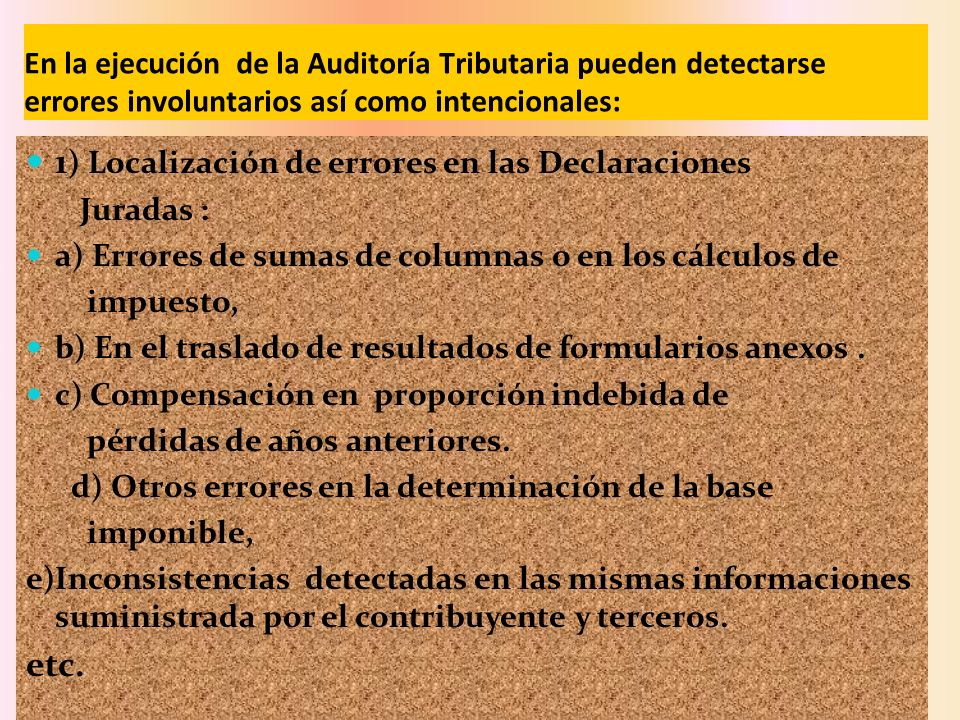 1) Localización de errores en las Declaraciones