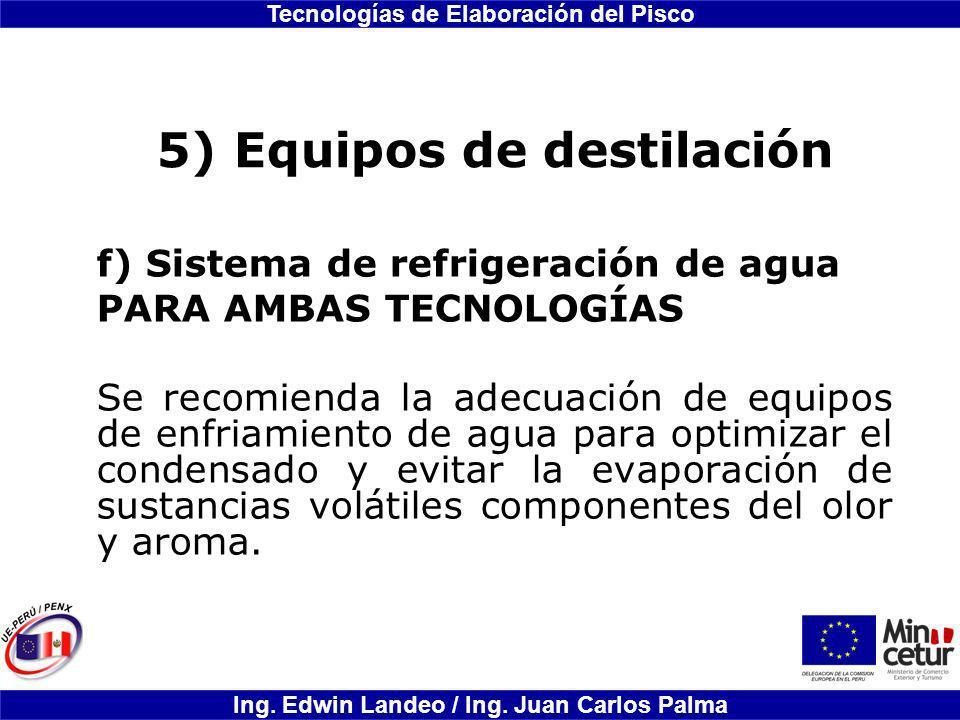 5) Equipos de destilación