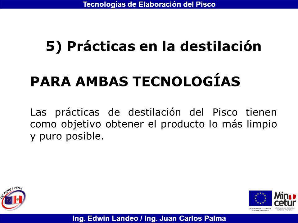 5) Prácticas en la destilación