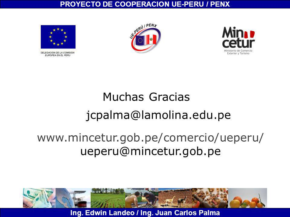 Muchas Gracias jcpalma@lamolina.edu.pe