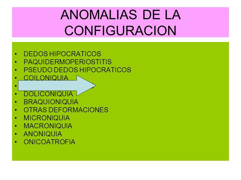 ANOMALIAS DE LA CONFIGURACION
