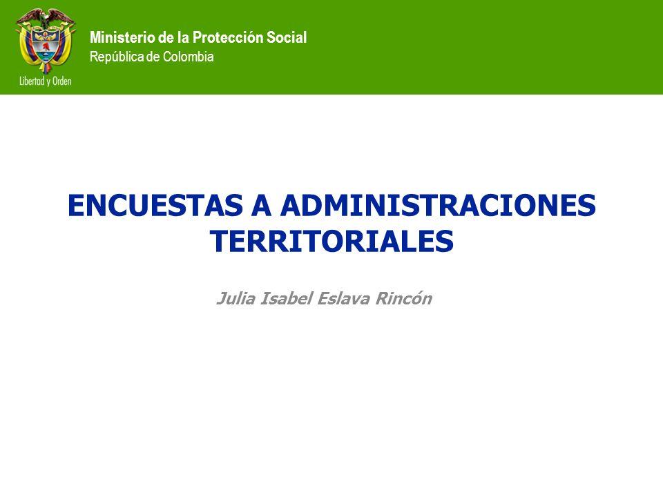 ENCUESTAS A ADMINISTRACIONES TERRITORIALES