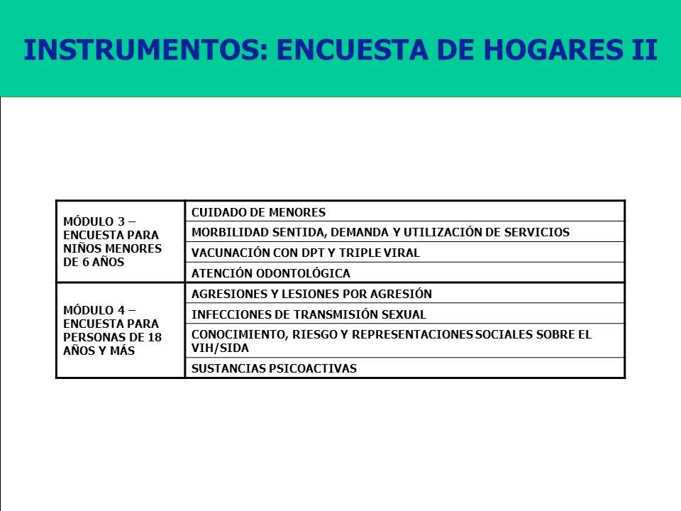 INSTRUMENTOS: ENCUESTA DE HOGARES II