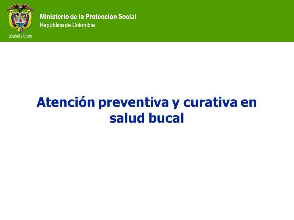 Atención preventiva y curativa en salud bucal