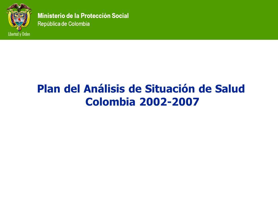 Plan del Análisis de Situación de Salud