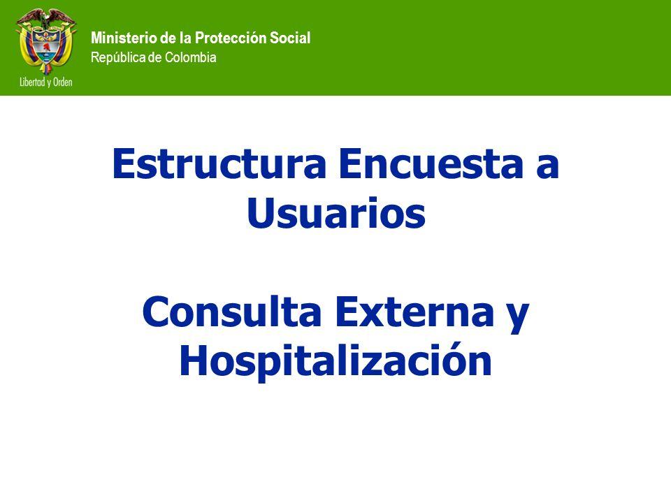 Estructura Encuesta a Usuarios Consulta Externa y Hospitalización