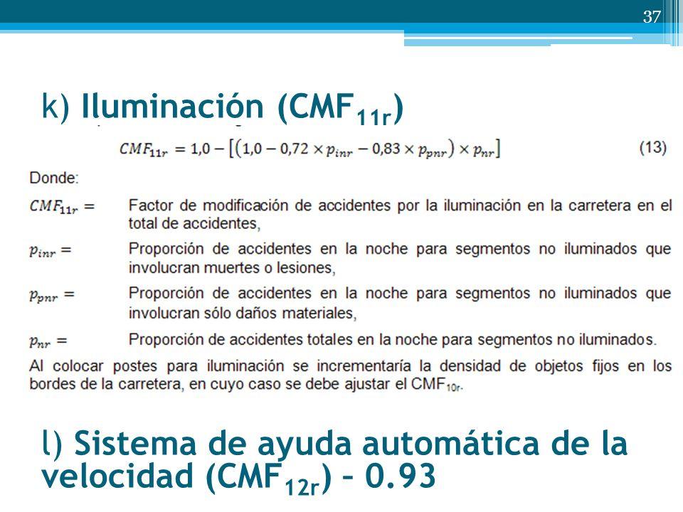 k) Iluminación (CMF11r) l) Sistema de ayuda automática de la velocidad (CMF12r) – 0.93
