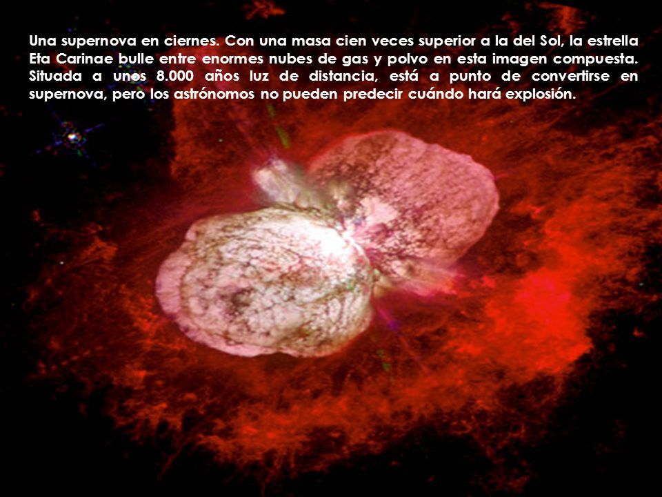 Una supernova en ciernes