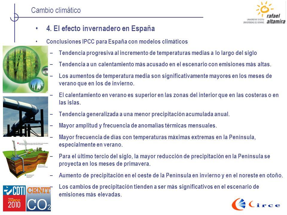 4. El efecto invernadero en España