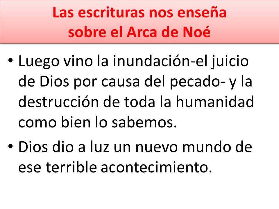 Las escrituras nos enseña sobre el Arca de Noé