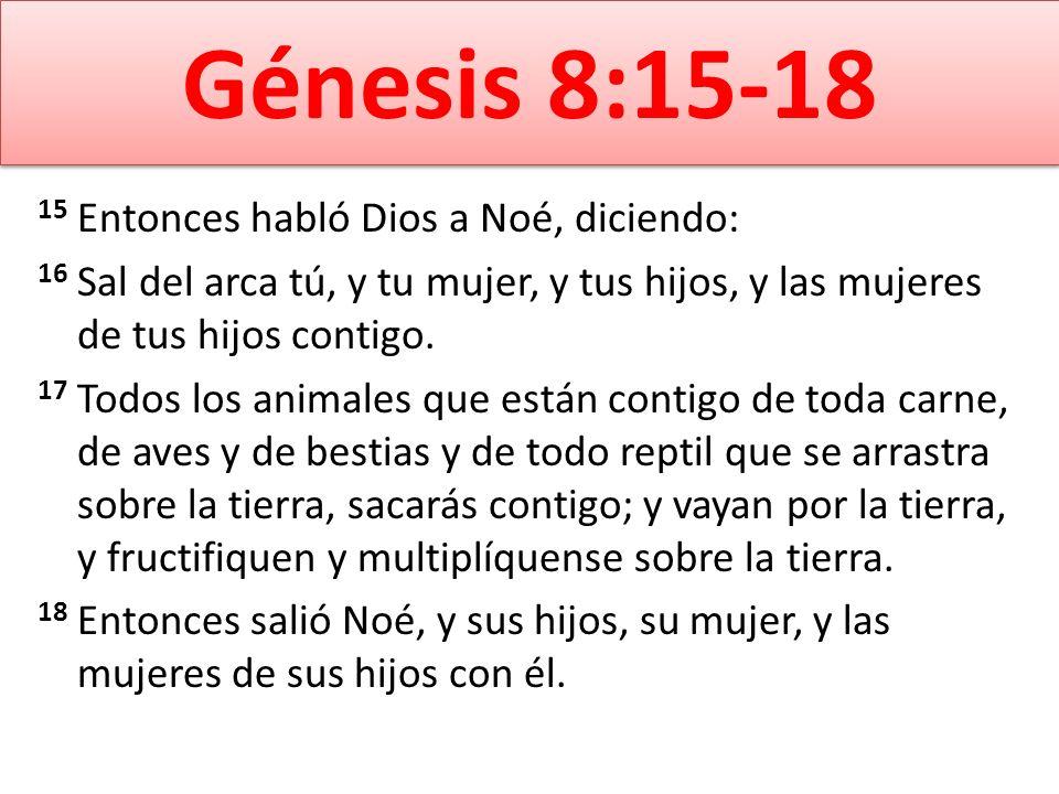 Génesis 8:15-18