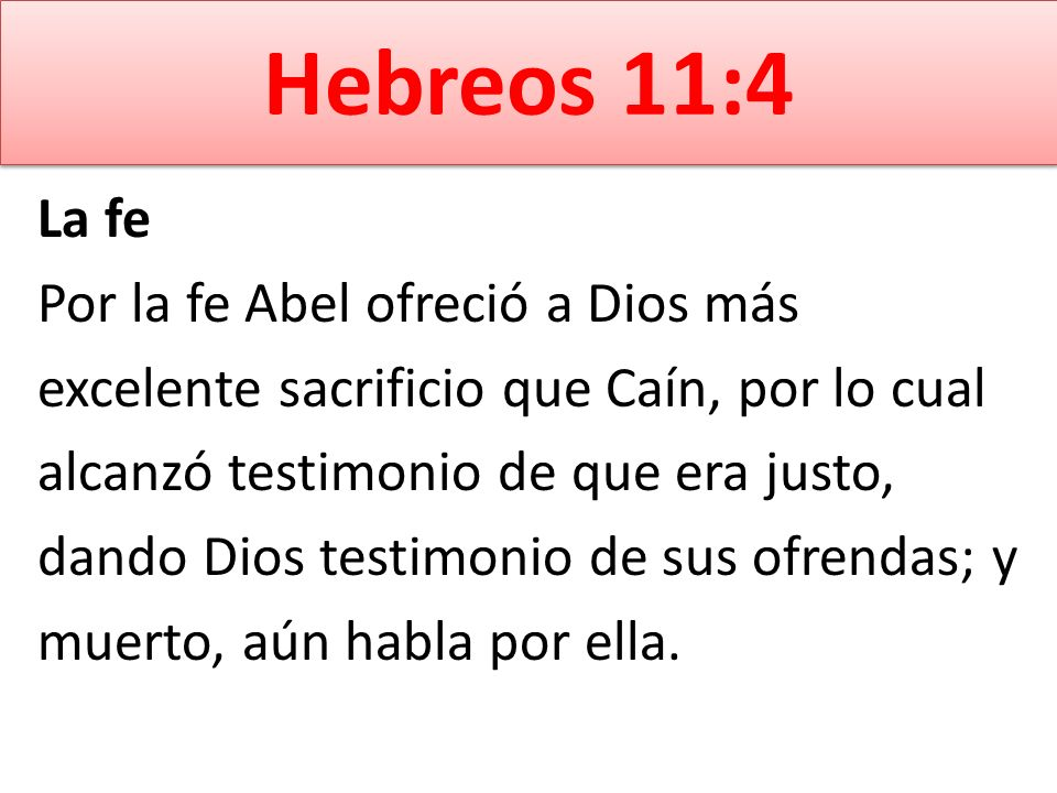 Hebreos 11:4