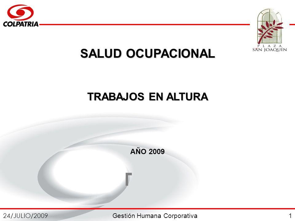 SALUD OCUPACIONAL TRABAJOS EN ALTURA AÑO 2009 1
