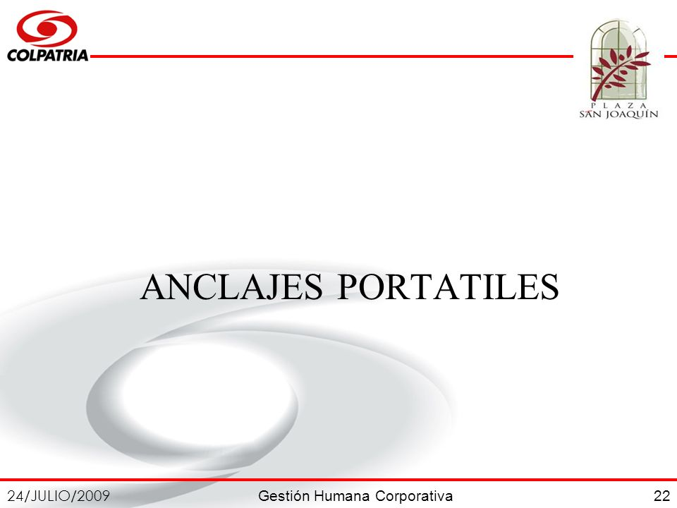 ANCLAJES PORTATILES