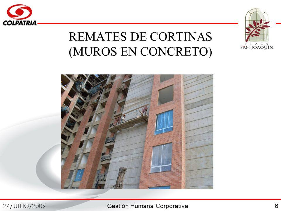 REMATES DE CORTINAS (MUROS EN CONCRETO)