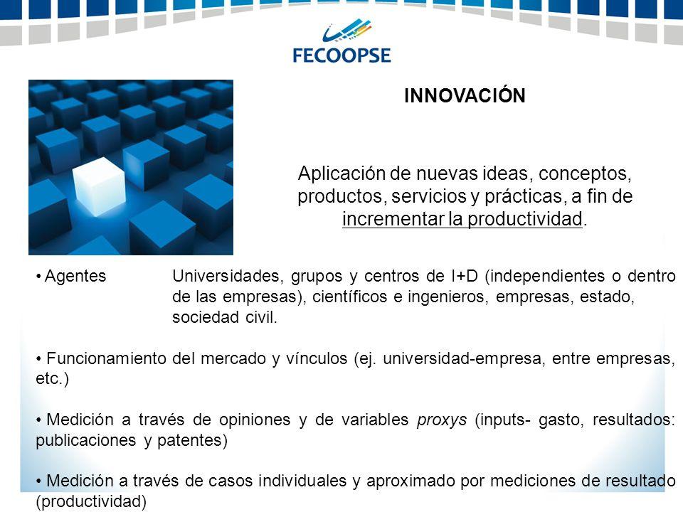 INNOVACIÓN Aplicación de nuevas ideas, conceptos, productos, servicios y prácticas, a fin de incrementar la productividad.