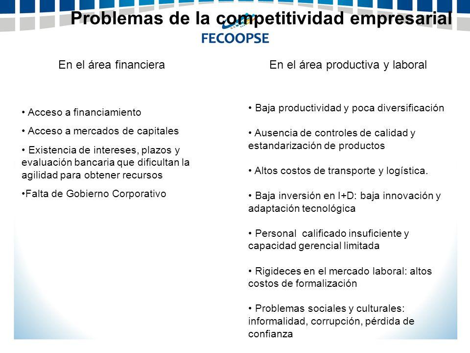 Problemas de la competitividad empresarial
