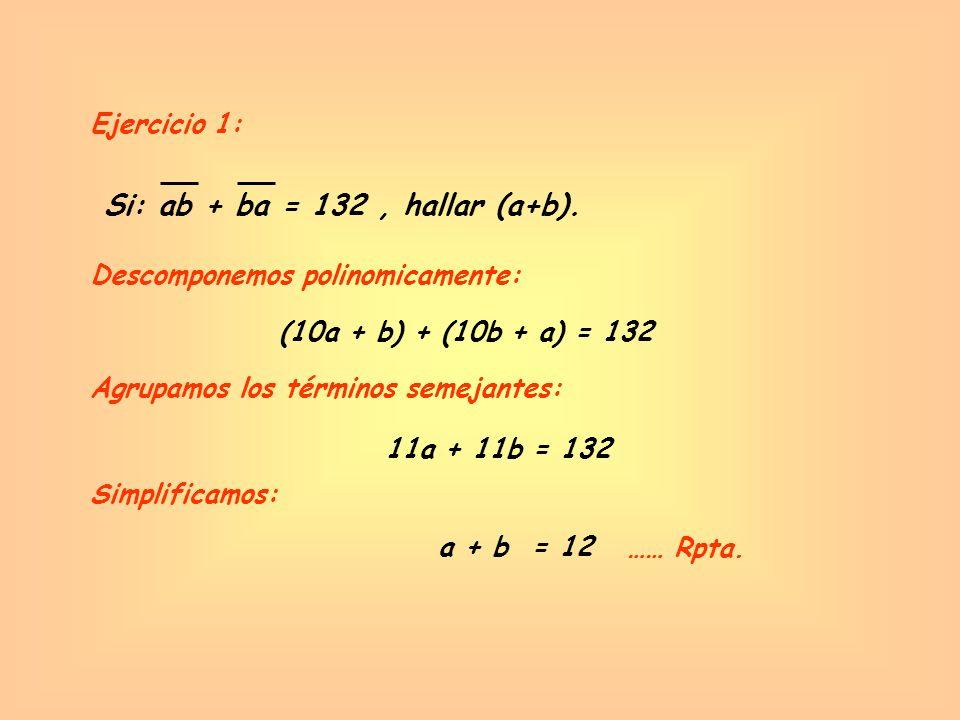 Si: ab + ba = 132 , hallar (a+b).