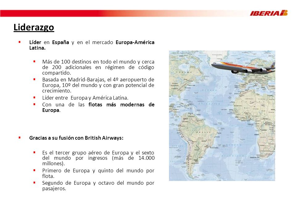 Liderazgo Líder en España y en el mercado Europa-América Latina.
