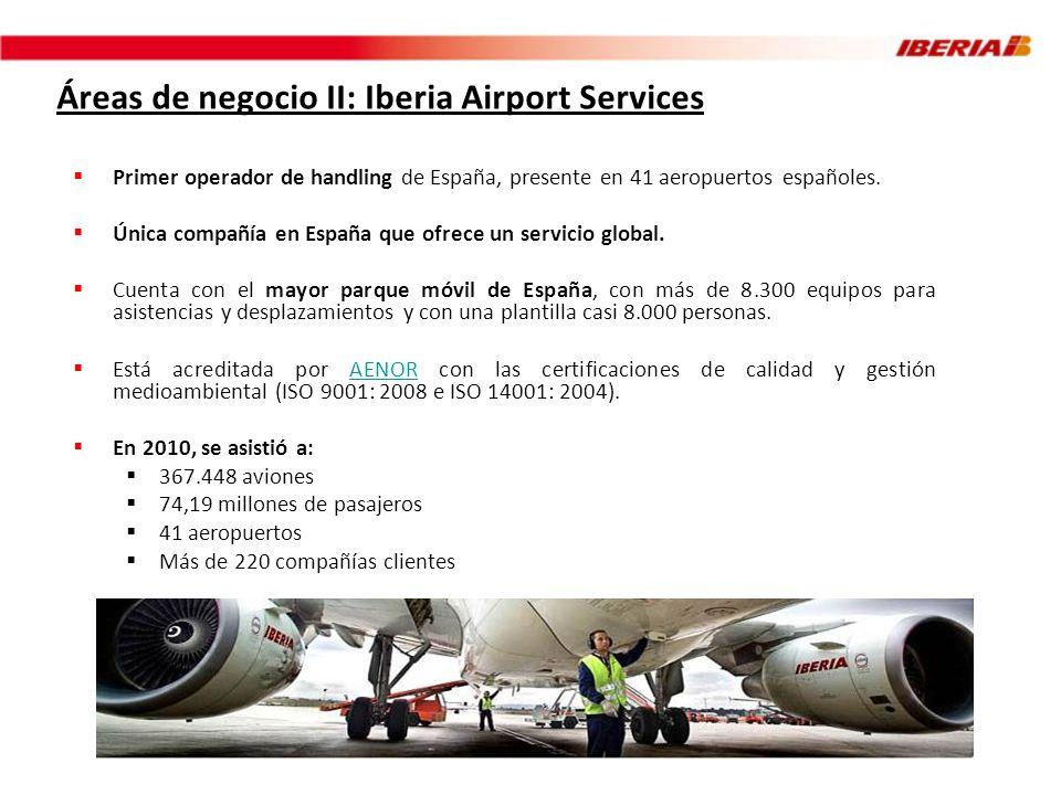 Áreas de negocio II: Iberia Airport Services