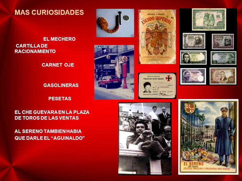 MAS CURIOSIDADES EL MECHERO CARTILLA DE RACIONAMIENTO CARNET OJE