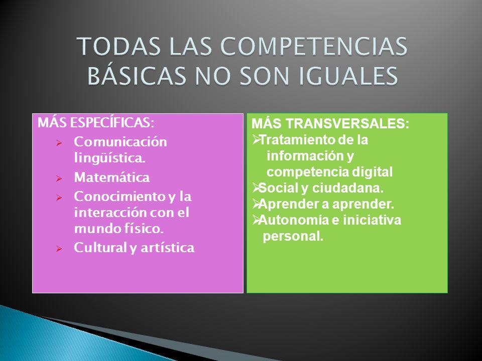 TODAS LAS COMPETENCIAS BÁSICAS NO SON IGUALES