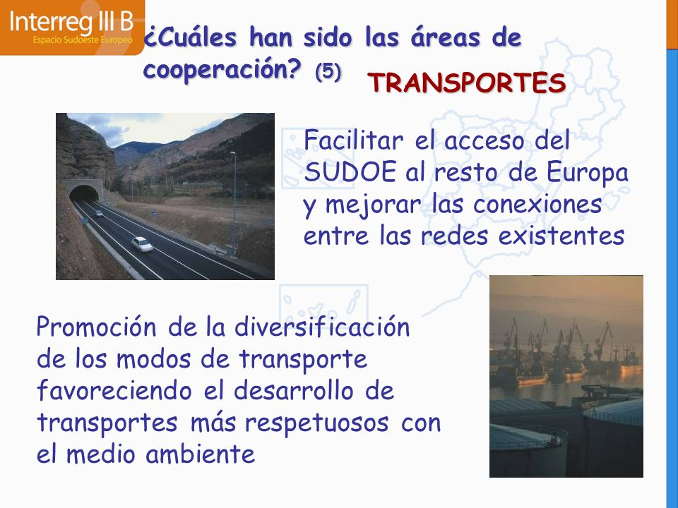 ¿Cuáles han sido las áreas de cooperación (5)