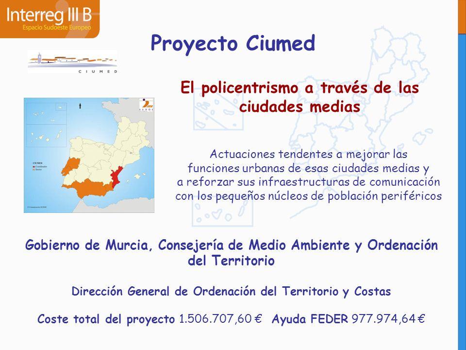 Proyecto Ciumed El policentrismo a través de las ciudades medias