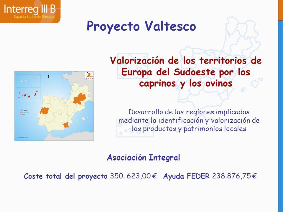 Proyecto Valtesco Valorización de los territorios de Europa del Sudoeste por los caprinos y los ovinos.