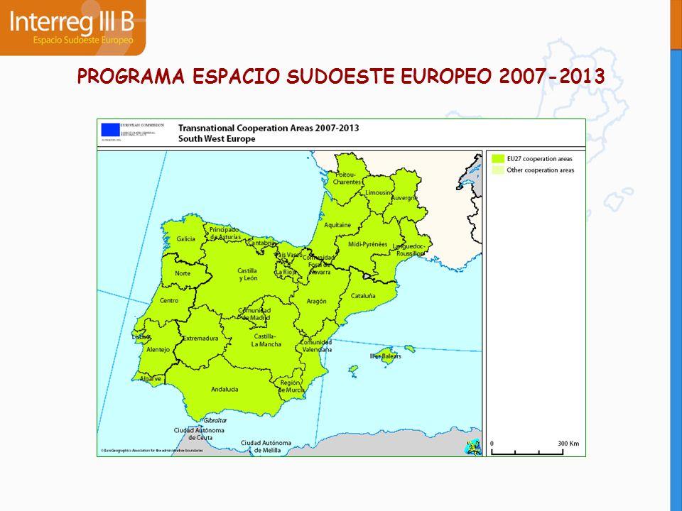 PROGRAMA ESPACIO SUDOESTE EUROPEO 2007-2013