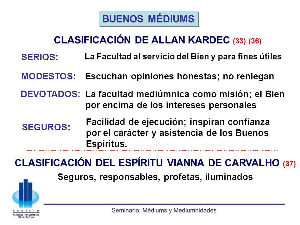 BUENOS MÉDIUMS CLASIFICACIÓN DEL ESPÍRITU VIANNA DE CARVALHO (37)