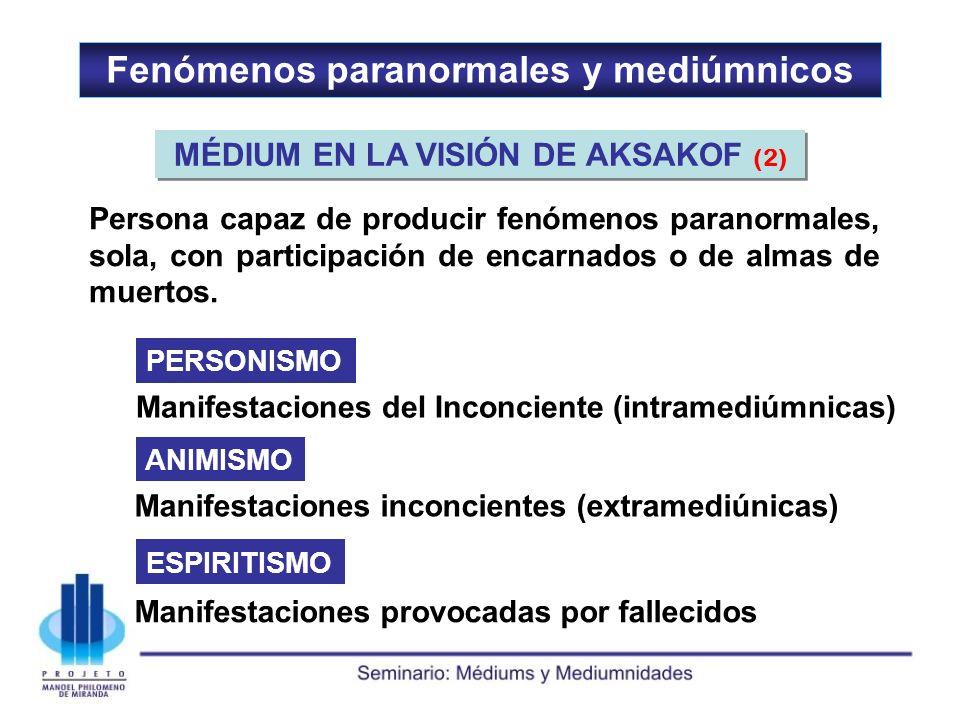 Fenómenos paranormales y mediúmnicos