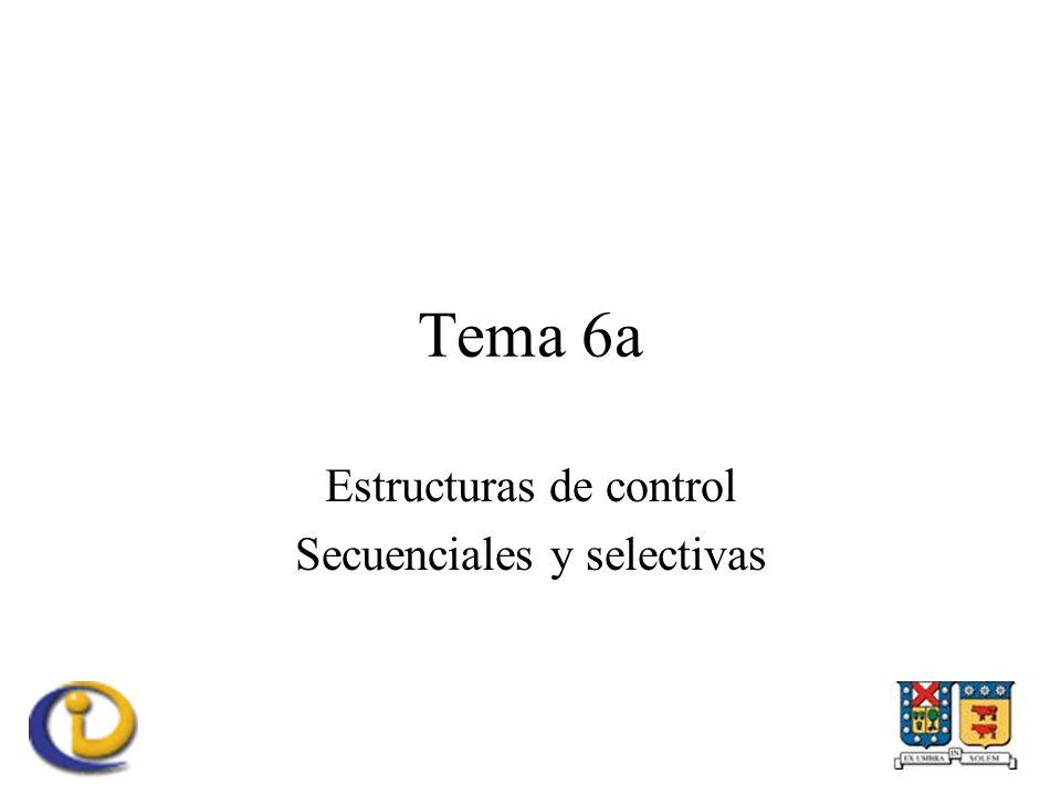 Estructuras de control Secuenciales y selectivas