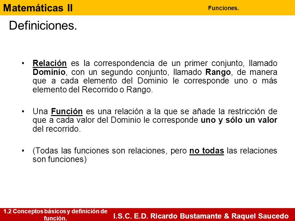1.2 Conceptos básicos y definición de función.