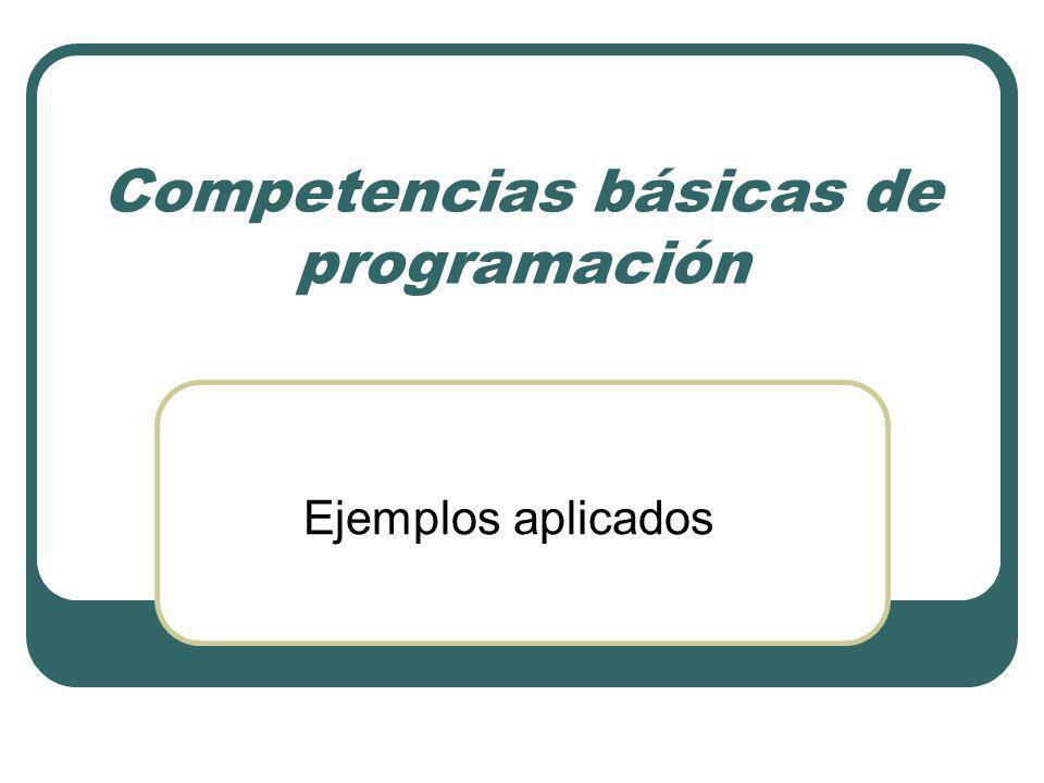 Competencias básicas de programación