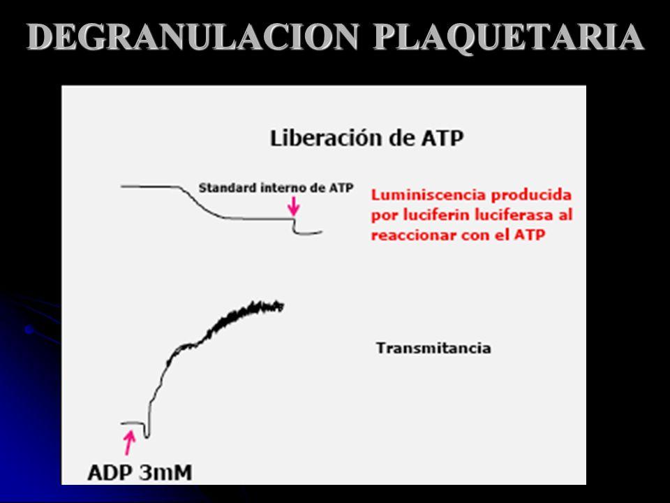 DEGRANULACION PLAQUETARIA