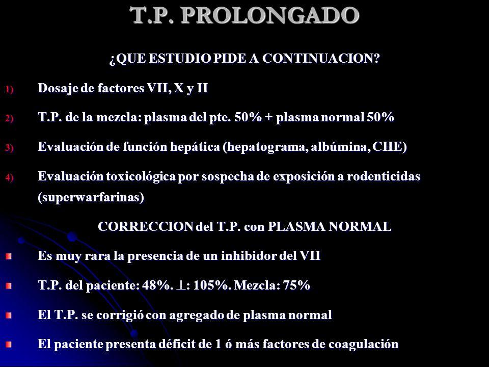 T.P. PROLONGADO ¿QUE ESTUDIO PIDE A CONTINUACION