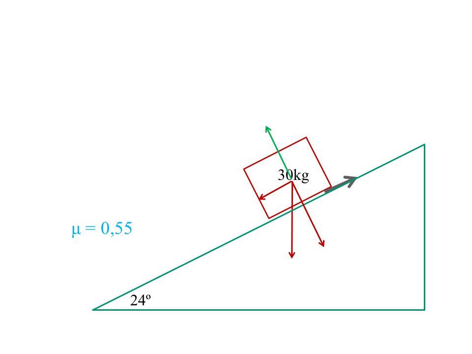 30kg μ = 0,55 24º