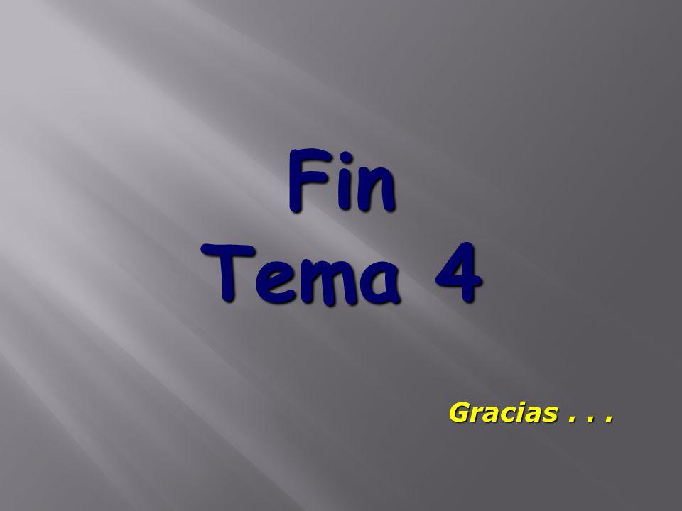 Fin Tema 4 Gracias . . .