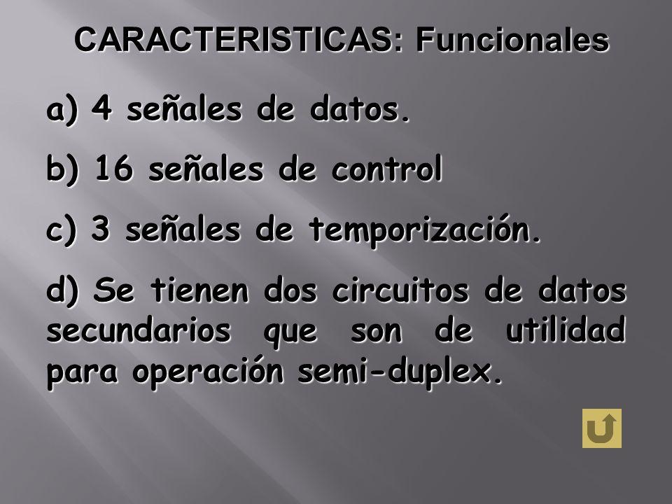 CARACTERISTICAS: Funcionales